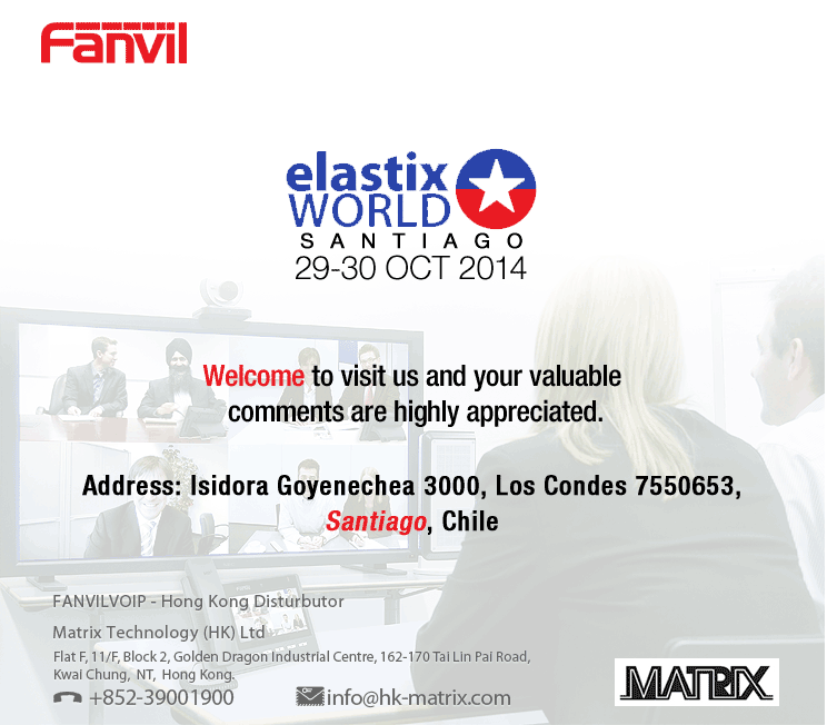 Fanvil @ Elastix world 2014 – Santiago, Chile