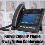 Fanvil C600 New Function – 3 Way Video Conference