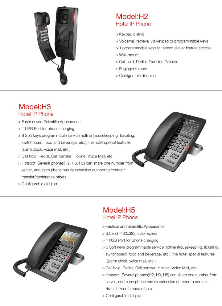 hotel-ip-phone-fanvil-h-series