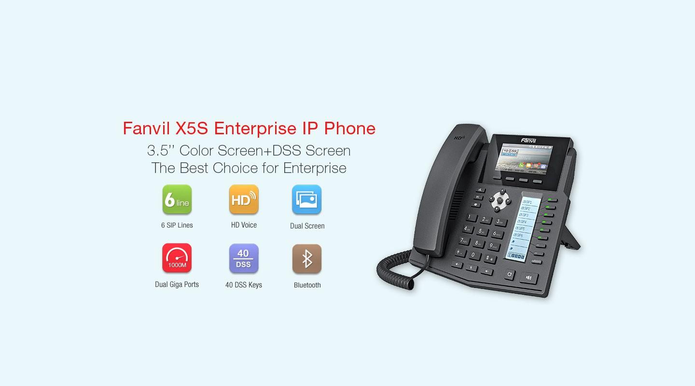 Fanvil X5S Gigabit IP Phone - Hong Kong Distributor - 香港代理