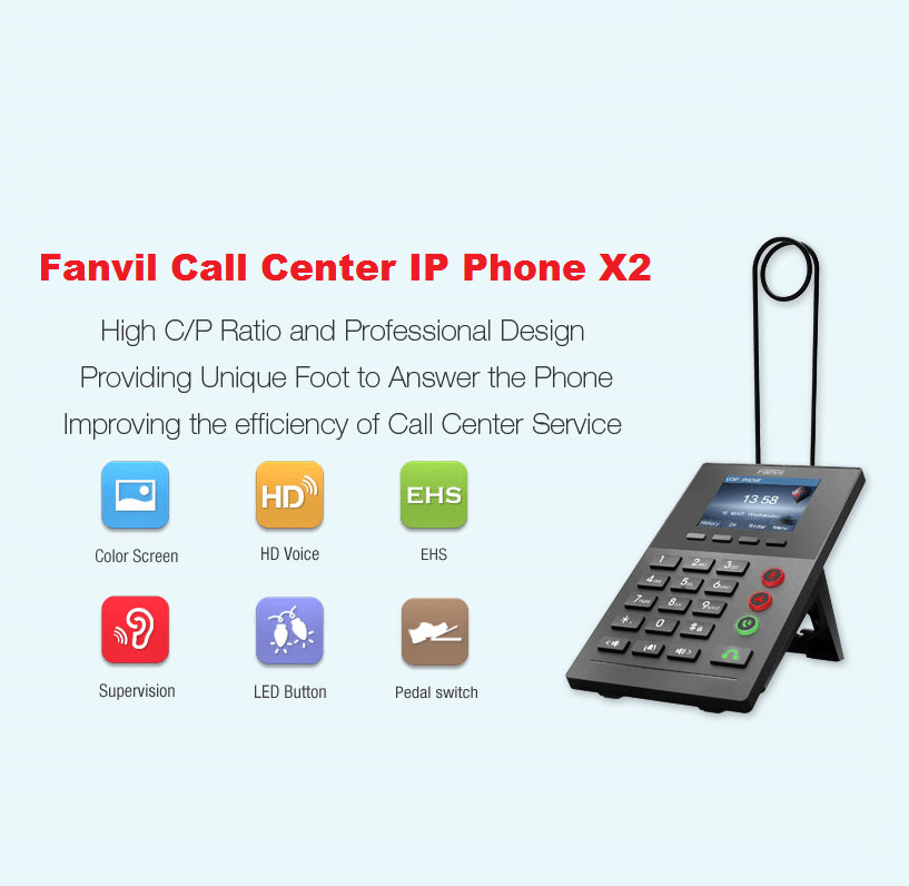 Fanvil 發布最新企業級 Call Center IP Phone – X2