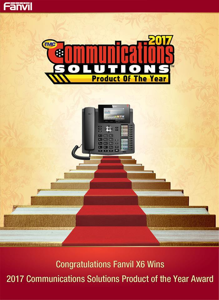TMC names Fanvil a 2017 Communications Solutions Products of the Year Award Winner