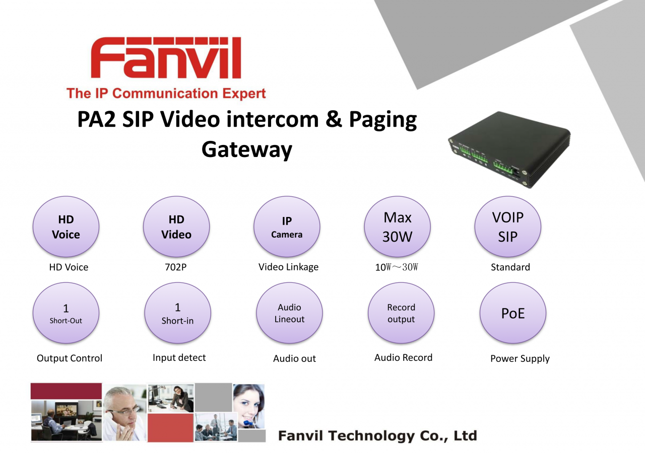 Fanvil PA2 Kit Tools package and Application Case Study