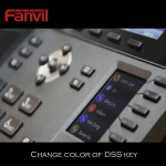 How to change colors of Fanvil X6 DSS Key icon