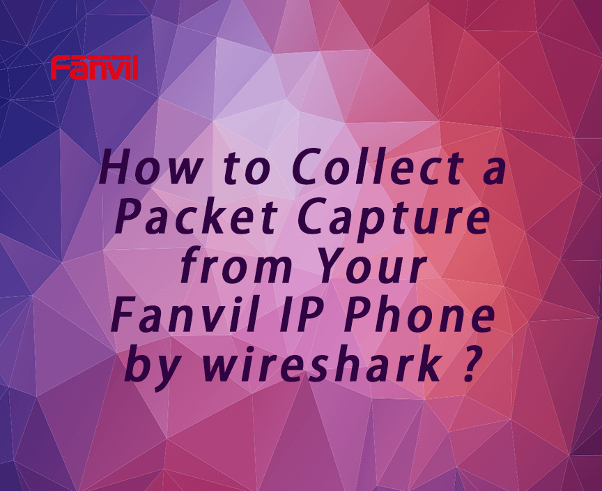 How to Collect a Packet Capture from Your Fanvil IP Phone by wireshark?