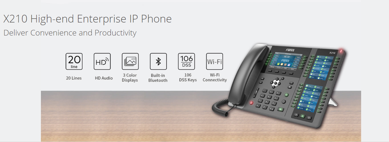 Fanvil X210 IP Phone POE Gigabit, Video - Hong Kong - Inquiry Tel:85239001988