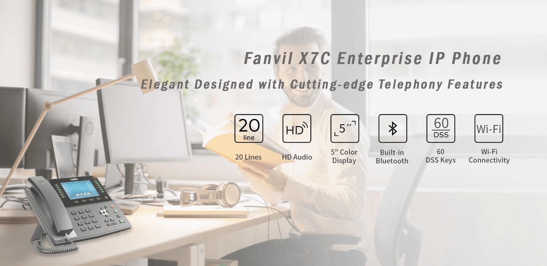 "Fanvil X7C 5""Color Screen Gigabit IP Phone (POE) - Hong Kong Distributor - 香港代理"