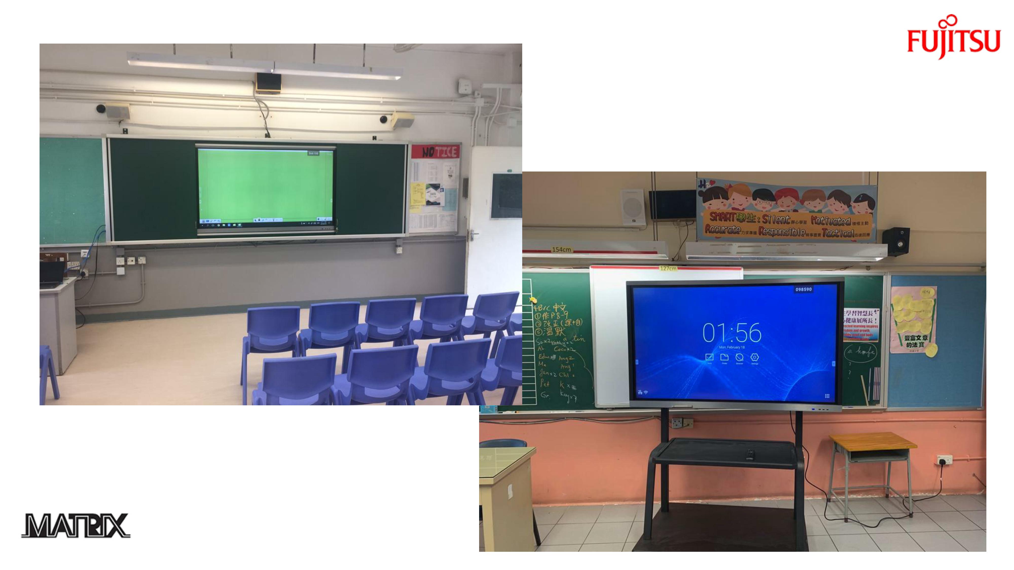 FUJITSU 學校電子白板 (互動觸控智能白板)