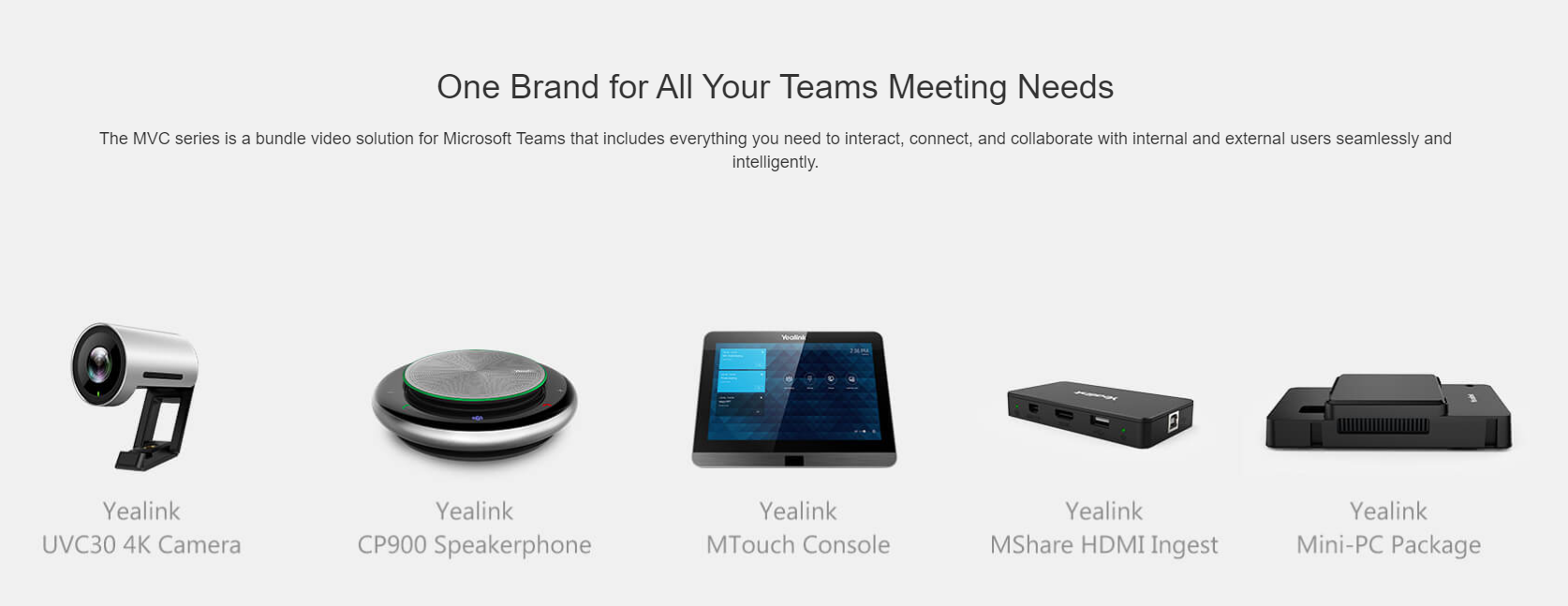 Yealink MVC300 Room System Video solution for Microsoft Teams and Skype for Business - Hong Kong Sales Hotline : +852 39001988